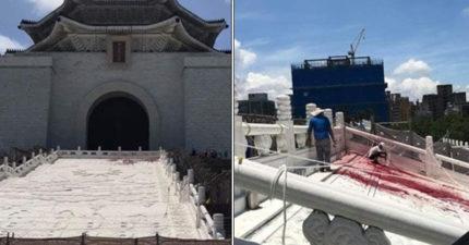 蔣公銅像染紅...修復工人崩潰「一年心血2分鐘毀」 136字對台灣人好失望