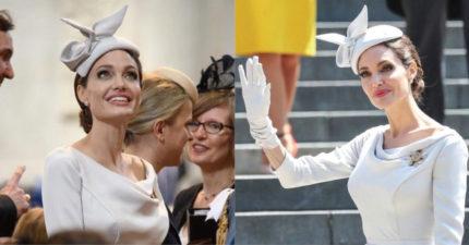史上最會駕馭衣服的女人 安潔莉納裘莉「蘿拉→公爵夫人」貼身白禮服美呆♡