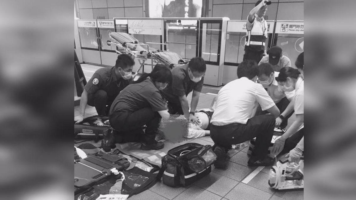 護理師搭捷運「留心怪男子」 當場化身白衣天使機警救援