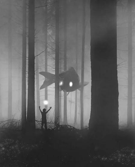 20張藝術家被「憂鬱怪物」纏擾黑暗插畫 繪出每個人內心最深處恐懼