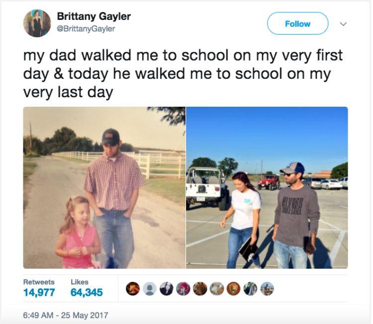 帥爸最後一次陪女兒走路上學 溫馨重現「5歲第一次畫面」