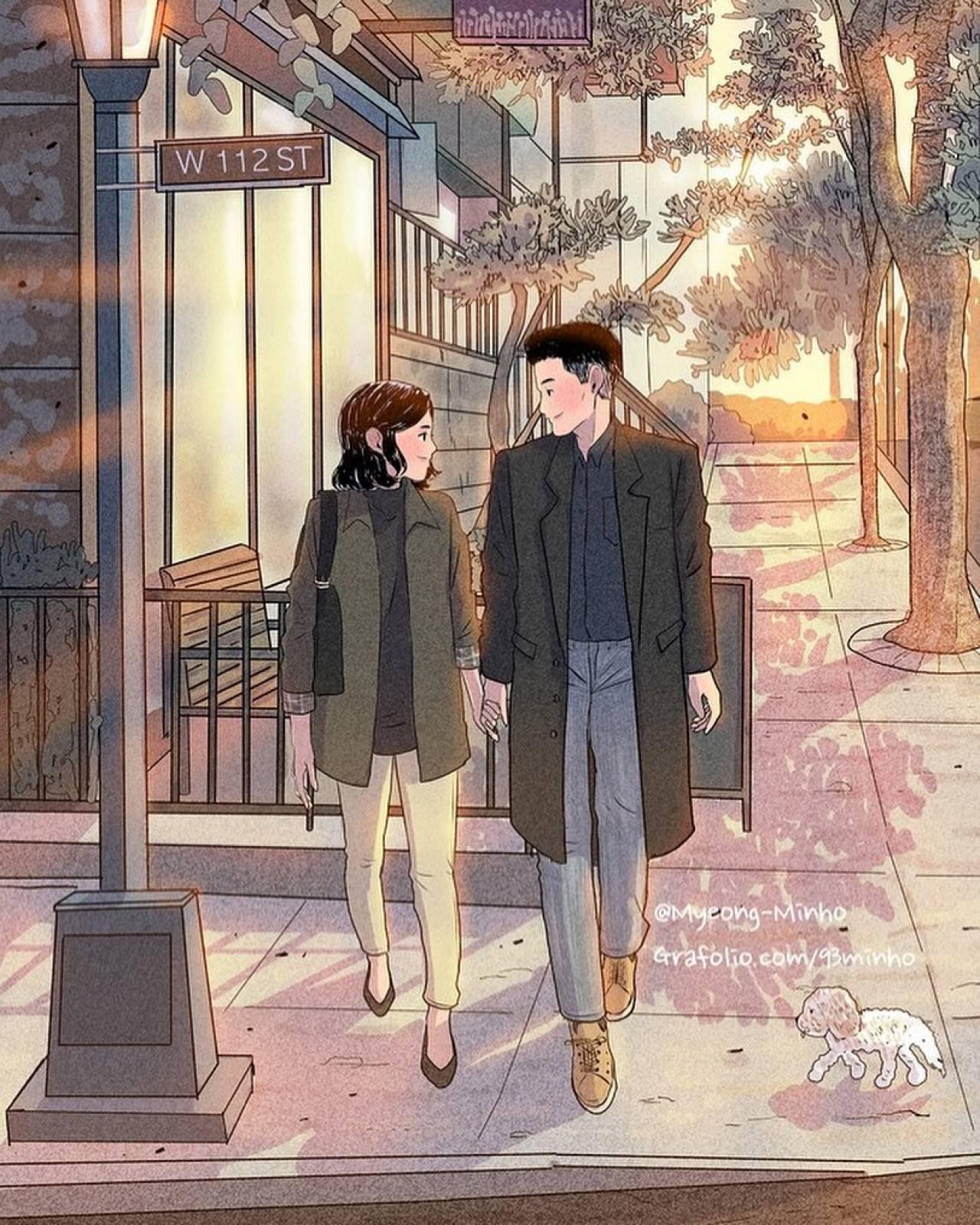 韓國帥歐巴畫出情侶日常中「最平凡的美好」 溫柔筆觸勾起最甜回憶❤