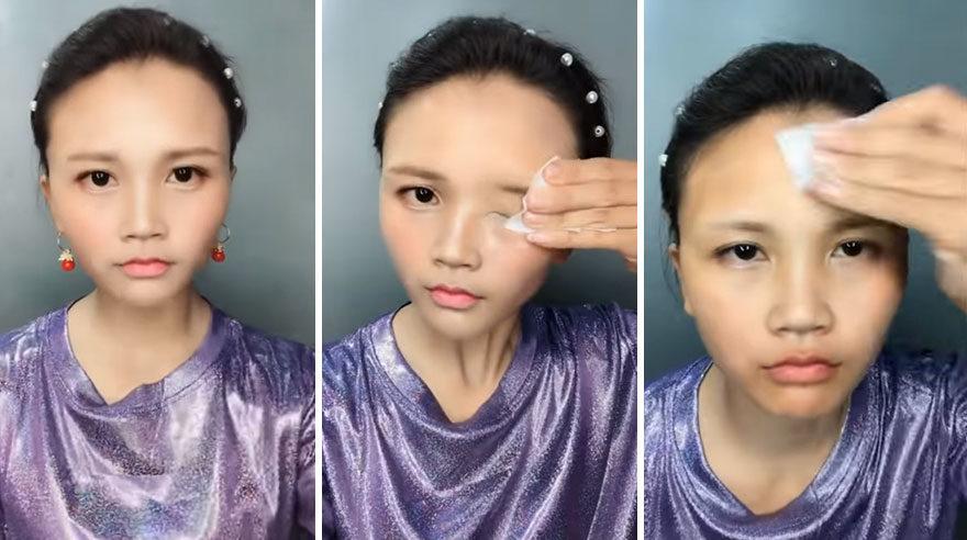 18個抖音最狂「投胎級化妝術」對比 網嚇壞:整形費都省了...