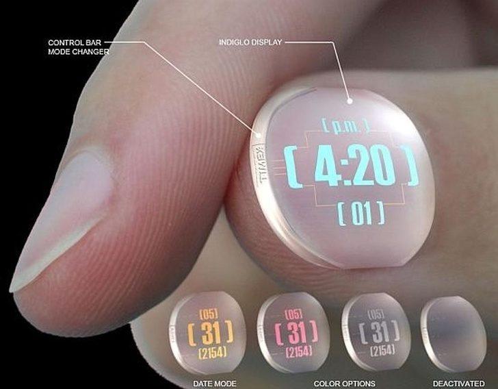 22个「让你生活更轻松」未来科技 指甲手表太炫! -5b3f2bd7c803a