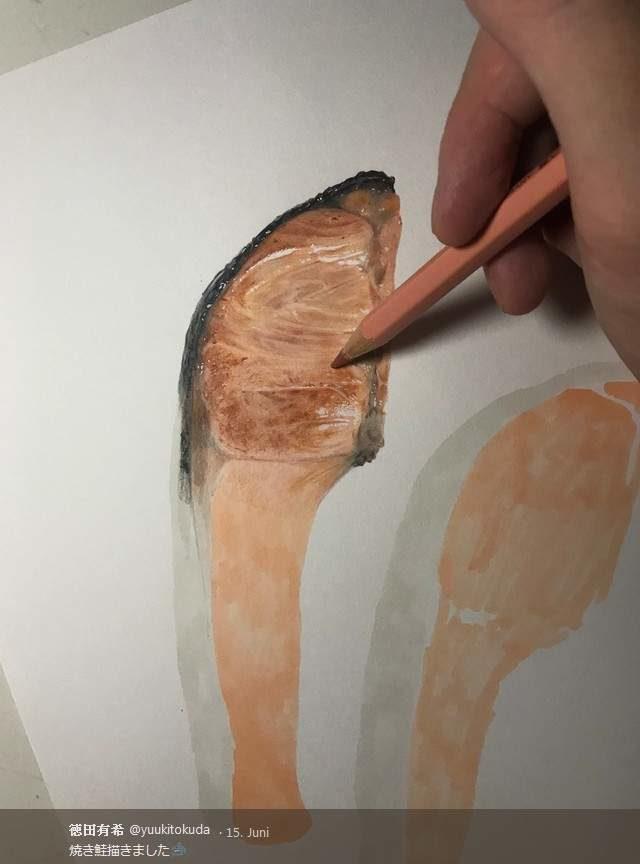 餐桌上擬真料理!日本繪師上菜「超油亮美味小章魚」好想夾起來配飯❤
