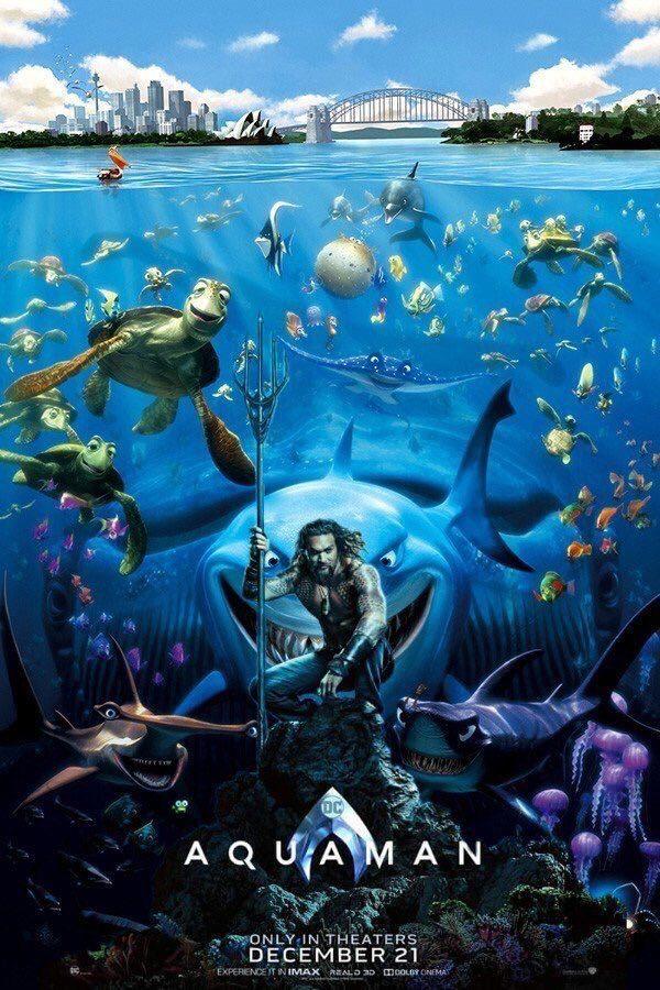 《水行俠》電影海報釋出 網嫌棄「狂加海底生物」連尼莫都入鏡!