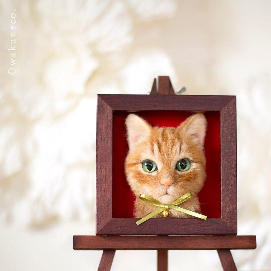 療癒感爆棚!14張超逼真立體「羊毛氈貓咪作品」 看一眼偷走你心♡