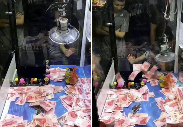 影/夾娃娃機出新招!丟10塊「鈔票滿天飛舞」吹到都是你的