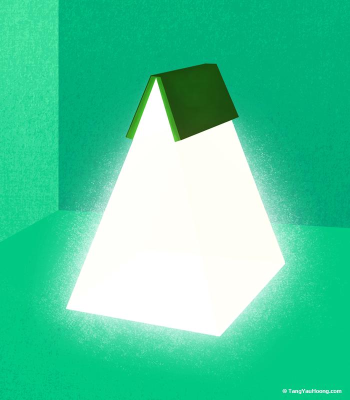 15張「光除了照明之外」的插畫 化身交纏的車燈讓人好糾結