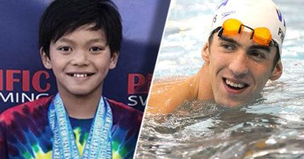 10歲神童打破「飛魚」菲爾普斯23年游泳紀錄 拿下7面金牌立志:我要比他更強!