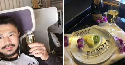 生日買頭等艙「等空姐幫慶生」 全程被當空氣...39歲男氣哭投訴!