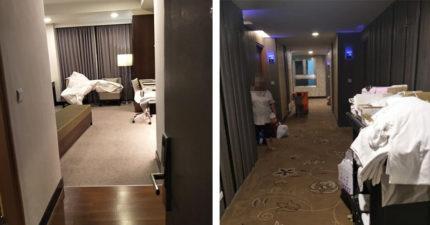 床單都沒換!清潔人員當她的面「拉平拍一拍」 4星飯店出來解釋了