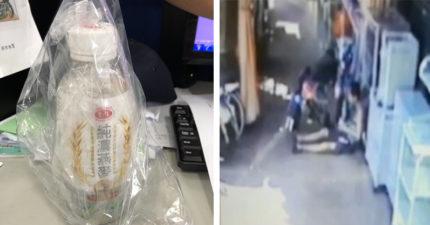 除鏽劑裝飲料瓶被街友偷!狂灌後倒地不起 網:清潔工真衰,莫名送人上天堂