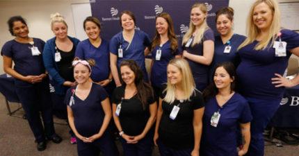 註生娘娘駕到!加護病房16位護士一起懷孕 爽組團:一起放產假~
