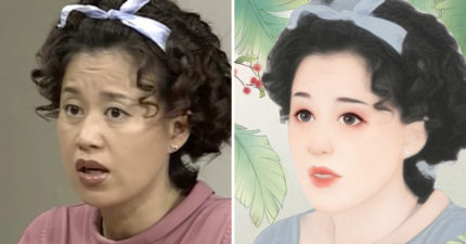 7張用《美圖秀秀》把韓星玩壞「變古典少女風」 馬東石真的變馬可愛了!