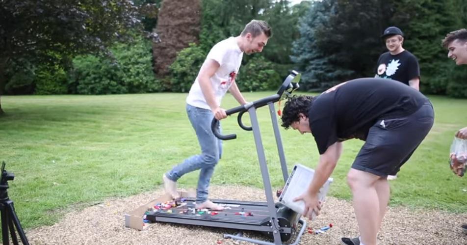 新版天堂路!網紅發明「樂高跑步機」挑戰 挑戰者:跑完折壽10年QQ