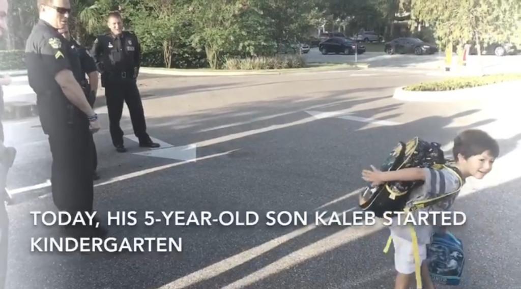 兒子第1天上學!老爸卻昏迷躺醫院 警察同事「一路陪進教室」:我們以你為榮孩子