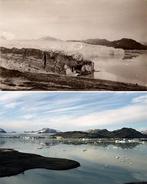 攝影師拍下「100年前VS現在北極冰川」 大片冰層消失見證人類殘酷罪孽
