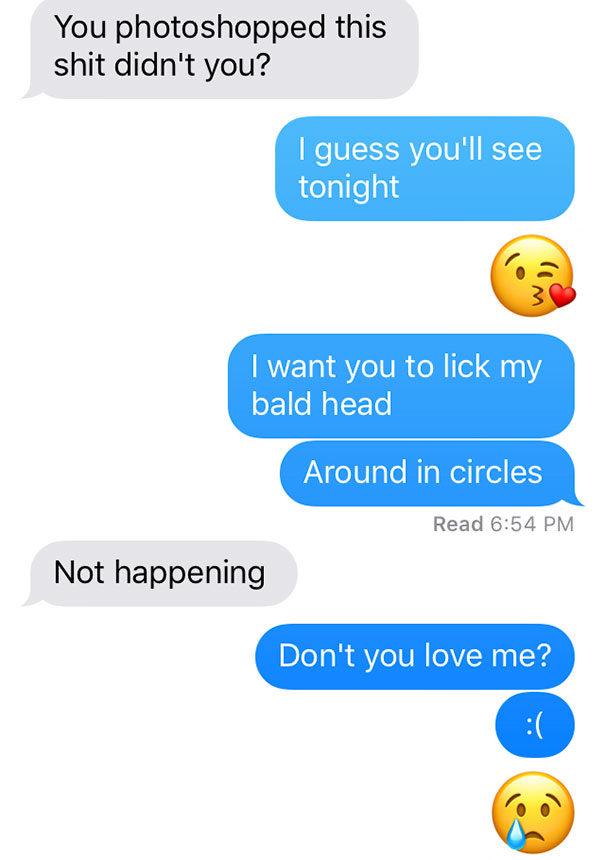 女友把自己「剃成地中海禿」 男友看到照片崩潰跳針:不~你做了什麼~~