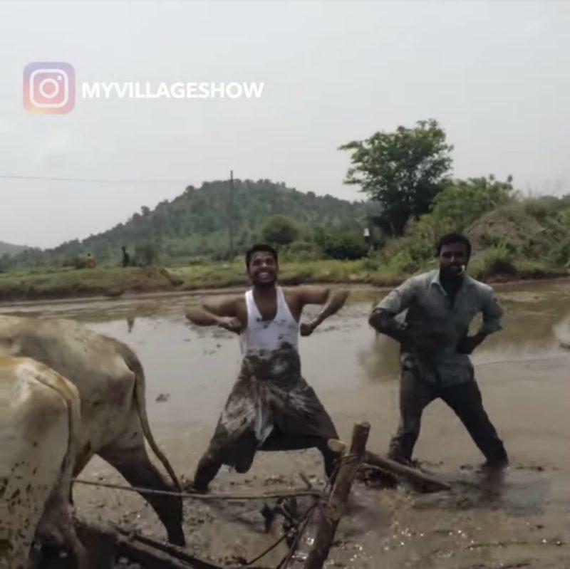 印農民挑戰「鄉村版KiKi Challenge」 拍打水牛屁屁在泥地中跳舞