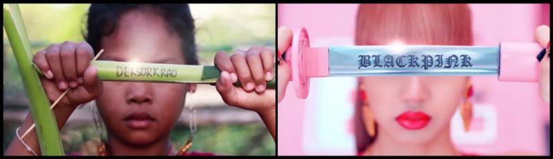 農村女孩「低成本Cosplay韓女團MV」 躺牛車唱歌、拿葉子當劍太還原啦!
