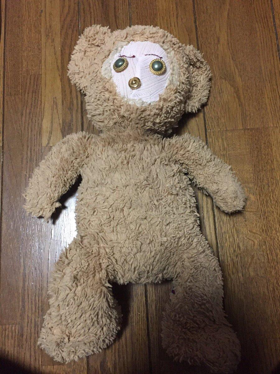 狗狗咬壞達菲熊的臉 阿嬤好心「修補整容」網笑翻:重新投胎了?