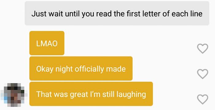 超有才把妹招數 先讀完「第一個字母」再決定要不要聊下去!