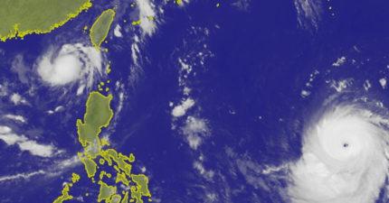 山竹颱風「開天眼」!肥嫩滾過太平洋 專家:半個台灣會蓋在暴風圈內