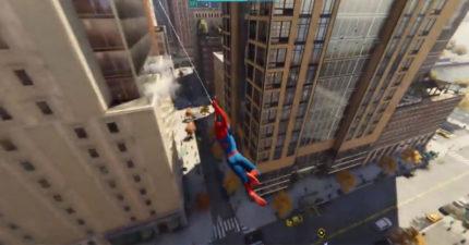 當蜘蛛人不是夢!完美穿梭大樓之間 超高自由度讓粉絲瘋狂:真der飛起來~