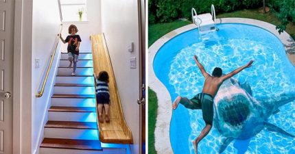 20個「讓你只想待在家防疫」的驚奇居家設計創意 魚缸結合洗手台!