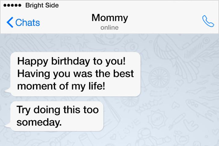 17張「爆笑爸媽與孩子」的簡訊對話 媽媽:我很平均的討厭每個小孩