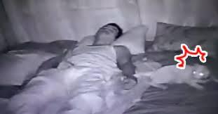 想觀察貓咪夜裡在幹嘛...意外拍到鏟屎官「詭異睡舞」 枕邊貓傻眼:奴才發瘋了?