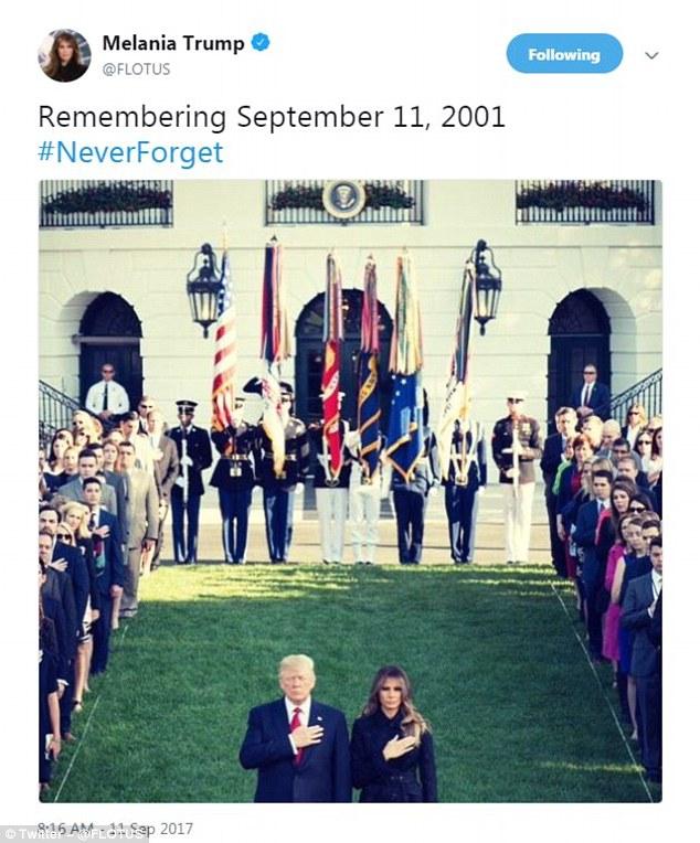 川普推特緬懷911 眼尖網友卻發現「照片怪怪der」怒罵:你這個騙子!