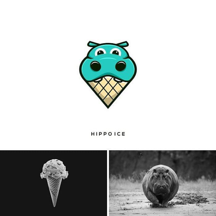 26張藝術家「把沒關聯的東西拼在一起」超創意商標 冰淇淋+獨角獸的結合超可愛❤