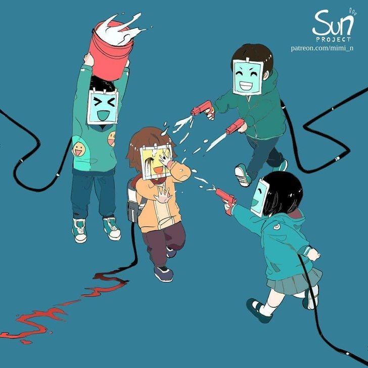世界真的那麼美好嗎?24張「拆穿社會謊言」的殘酷現實插畫