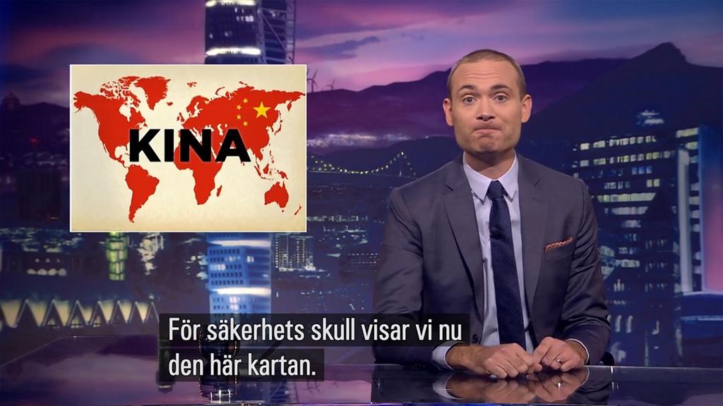 瑞典給中國網友的最後一擊!「新版中國地圖」全世界都掛上五星旗...陸大使館:用心險惡