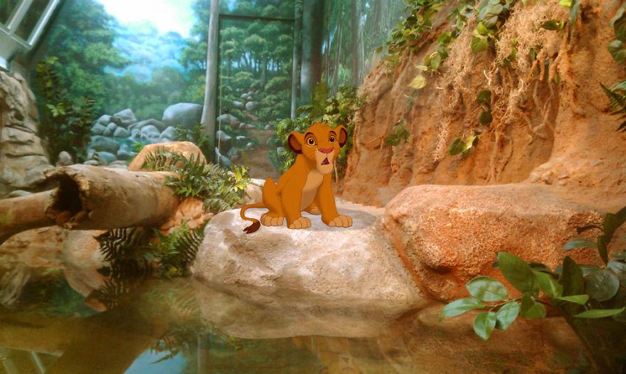 幸福快樂掰掰...如果迪士尼人物活在「現實世界」 小鹿斑比變成有錢人的裝飾品