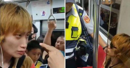 男子搭火車蹲地上擋到人 見到列車長後「崩潰大哭」乘客傻眼:是剛失戀?