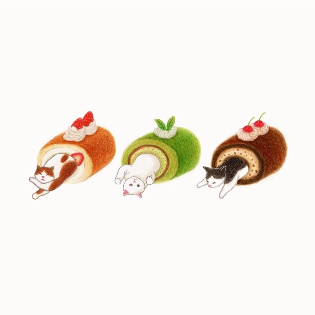 10張「化身療癒美食」的賣萌喵星人插畫  握壽司系列可愛到不捨得吃啊♥