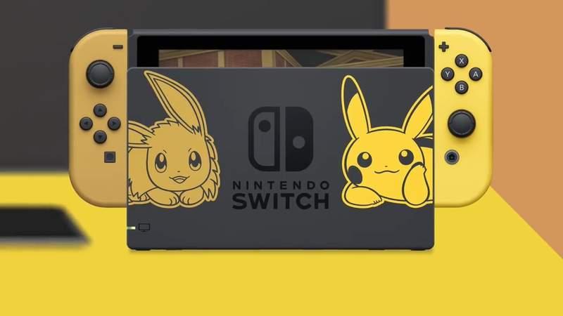 任天堂推出超萌「皮卡丘&伊布」Switch:是限量款唷❤️️