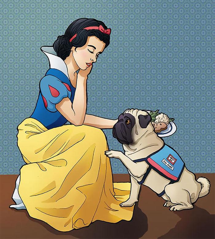 當迪士尼公主「不再完美時」!白雪公主出現「食物過敏」 服務犬帥氣出現提高關注