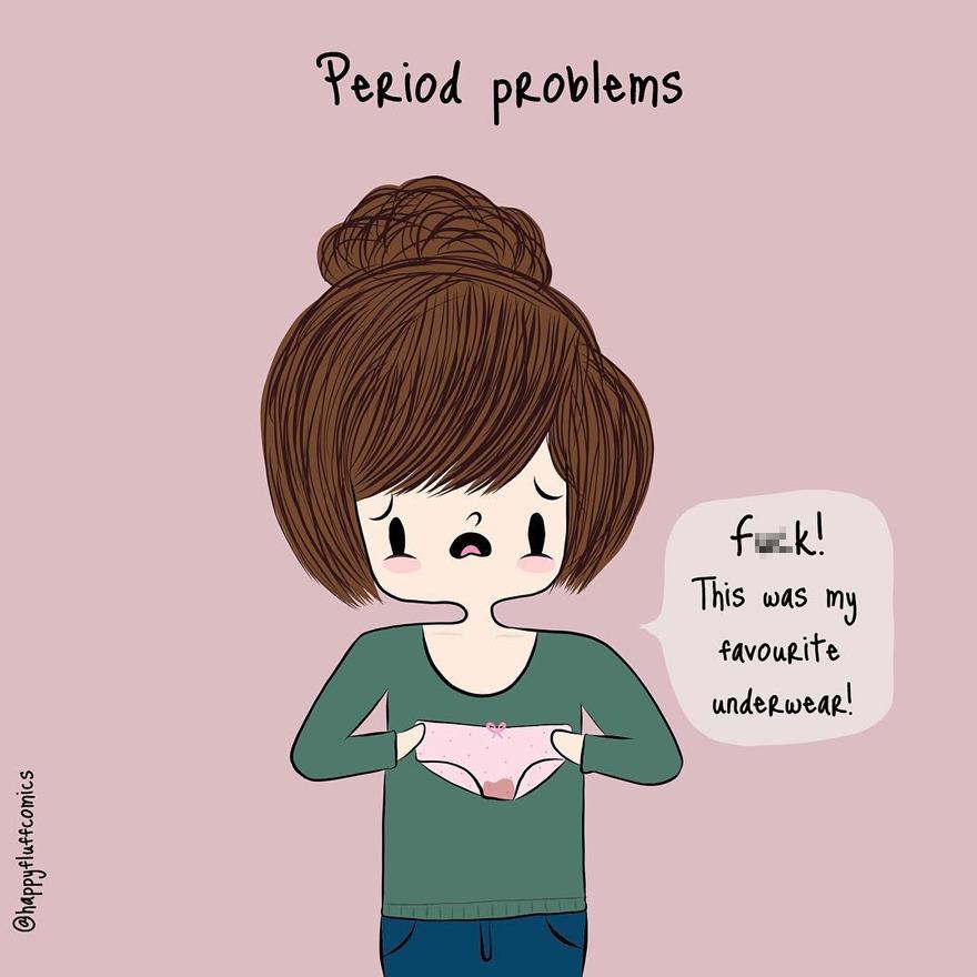 18張讓女生們「中肯到流淚」的日常煩惱 經期打噴嚏絕對會造成大洪水!