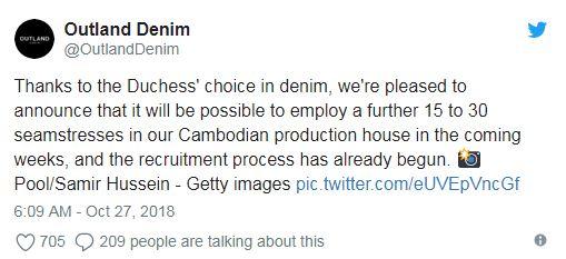 梅根的褲子拯救世界!一條牛仔褲引發狂買潮 業者PO文:讓柬埔寨女人又有工作了