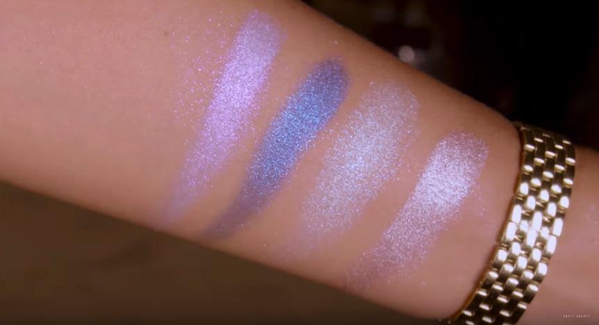 影/明星都是怎樣化妝的?蕾哈娜親身教學「紫色星空妝」 脖子上色超夢幻❤