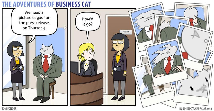 20張「如果你的老闆是貓咪」爆笑生活實況 動不動就從你身上踩過去!