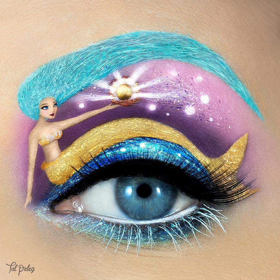 美女藝術家創作超夢幻「眼妝小世界」 彩色獨角獸像從童話故事走出來!