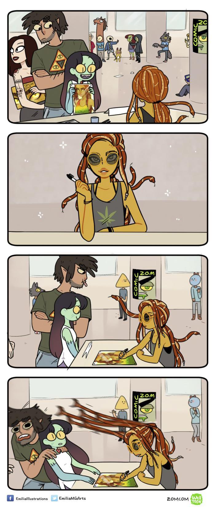 當「周遭人變成奇幻野獸」後的漫畫日記 殭屍女友哭哭:玩遊戲為什麼要打人家的同類!