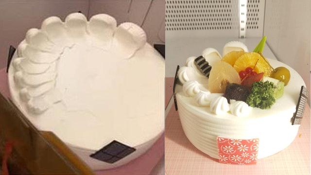 老爸一打開水果蛋糕「整顆都是白的」傻眼 上網罵爆店家反被打臉:是你女兒交代的!