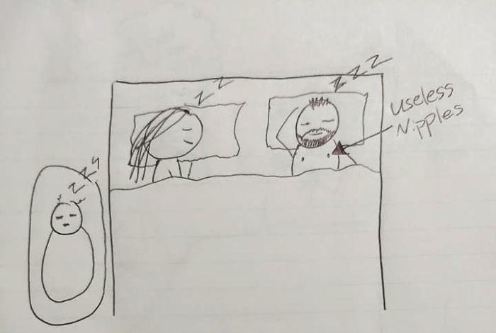 8張「讓當媽的直接想甩門」的手繪圖 她畫完後讓老公只想下跪道歉!