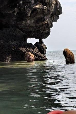 超越尼斯湖水怪!水灣邊出現「半人半猿」鴛鴦戲水 遊客全傻眼:那到底TMD什麼鬼東西